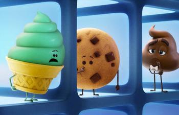 Retrouvez les émoticônes dans la scène d'ouverture de The Emoji Movie