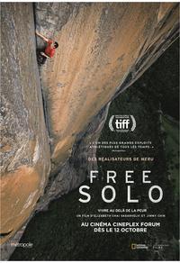 Free Solo - Gagnez un laissez-passer double valable en tout temps au cinéma Forum