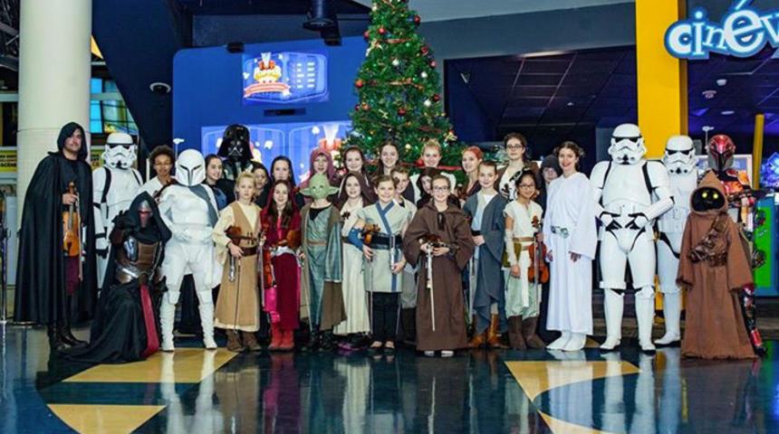 Un récital épique au Cineplex Beauport pour la sortie de Star Wars : Le réveil de la force
