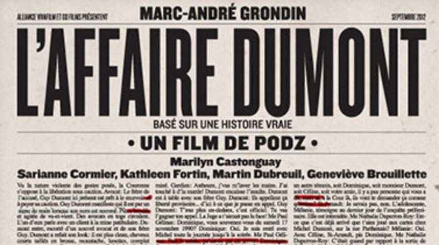 Dévoilement interactif de l'affiche de L'affaire Dumont